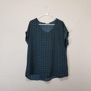 Pleione career style blouse